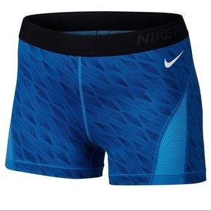 Nike Pro Hypercool Blue Spandex Shorts Medium